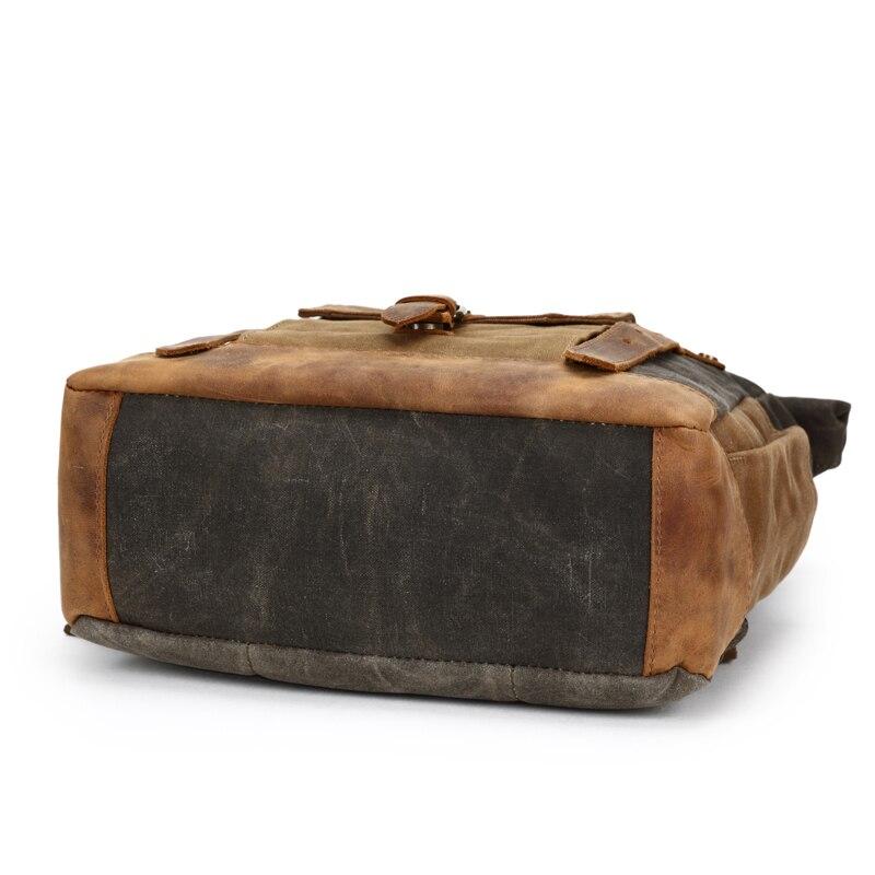 Мужской рюкзак, рюкзак для ноутбука, большой повседневный брезентовый винтажный рюкзак Crazy Horse из кожи, винтажный Прочный Мужской рюкзак для путешествий, мужская сумка - 4