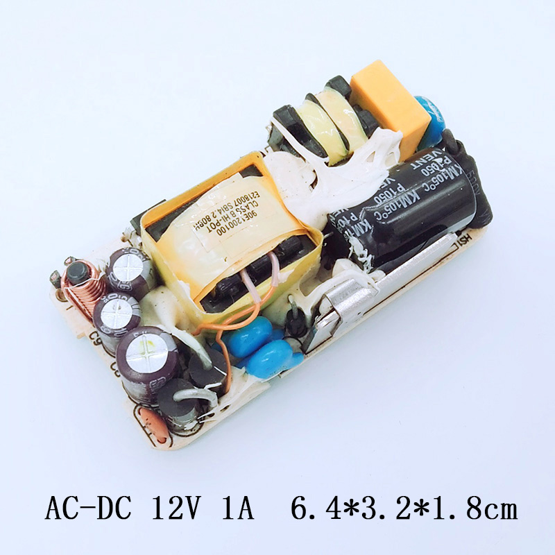 AC-DC 12V 1A Switching Power Supply Circuit Board Switch DC Voltage Regulator Module For Monitor LED Regulator Power 1000MA free shipping dual voltage protection nibp module for patient monitor for adult pediatirc and neonate dc 12v cas module