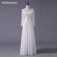 New A Line Embroidery Boat Neck Full White Satin Bridal Wedding Dress Gown 30365