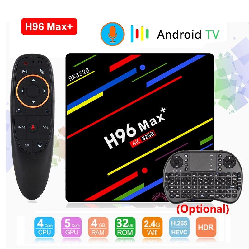 H96 Max Plus Smart TV Box Android 8.1 TV BOX RK3328 4GB RAM 32GB ROM USB3.0 H.265 4K set top box 2.4G/5G Dual WIFI Media playerH96 Max Plus Smart TV Box Android 8.1 TV BOX RK3328 4GB RAM 32GB ROM USB3.0 H.265 4K set top box 2.4G/5G Dual WIFI Media player