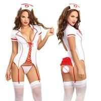 Lencería Sexy Hot Erotic Maid Vestido de Trajes de la Enfermera Cosplay Uniforme Mujeres Ropa Exótica Ropa Interior Sexy de Peluche de la Ropa Interior Caliente