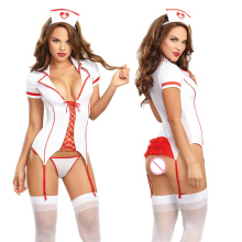Maid Lingerie Sexy Hot Erotic Nurse Costumes Dress Underwear Sexy Teddy Lingerie Hot Cosplay Uniform Womens Exotic Apparel