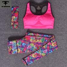 2pcs Running Sets Women's Sports Suit Bra+Pants+Bandeau Fitness Workout Yoga Sets Gym Clothing