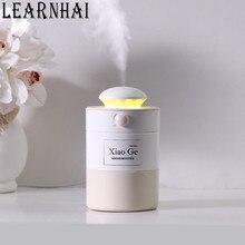 LEARNHAI Mist Volume Adjustable Air Humidifier Warm Light USB Diffuser 500ML Large Capacity Car Desktop Atomizer Purifier