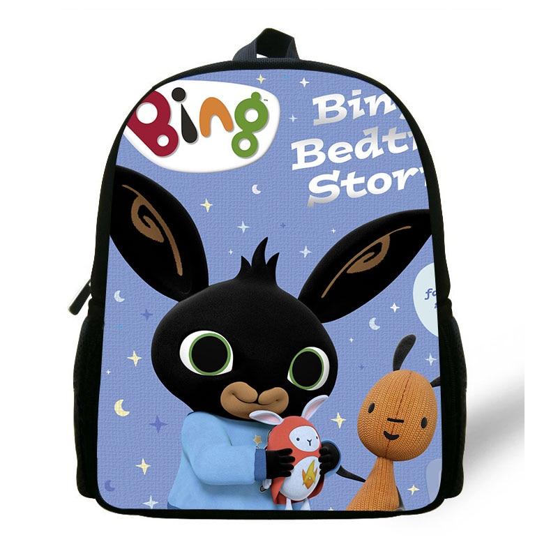 Bing Bunny Anime Painting Small Backpack Children School Bags Kindergarten  Backpack Baby Girls Mini Toddler Bags 4fe7ad8b12d2c