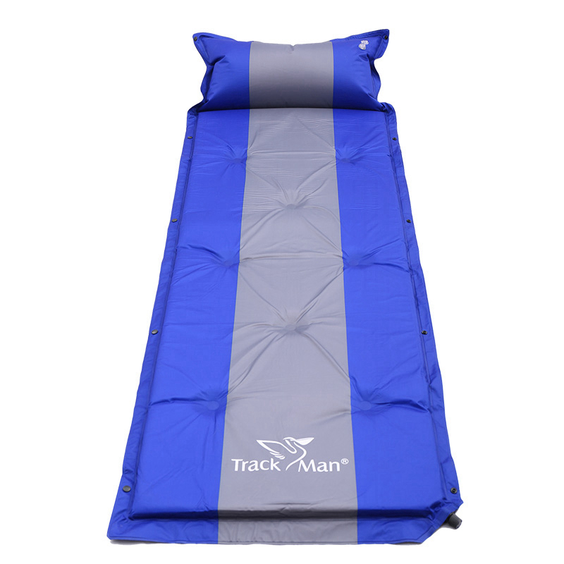 Ultralight With Pillow Outdoor Air Mattress Moistureproof Automatic Inflatable Air Mat Camping Bed Tent Camping Mat Sleeping Pad spliced air mattress self inflating pad automatic inflatable camping mat moistureproof folding tent bed outdoor sleeping airbed