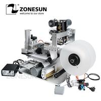 ZONESUN LT-60D Semi Máquina de Etiquetas Automática Máquina de Rotulagem Garrafa de Drogas Medicina Garrafa Máquina de Etiquetas Com Data