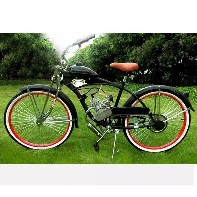 Brand New 80cc 2 Stroke Cycle Bike Bicycle Motorized Engine Kit SILVER Motor Chrome Muffler