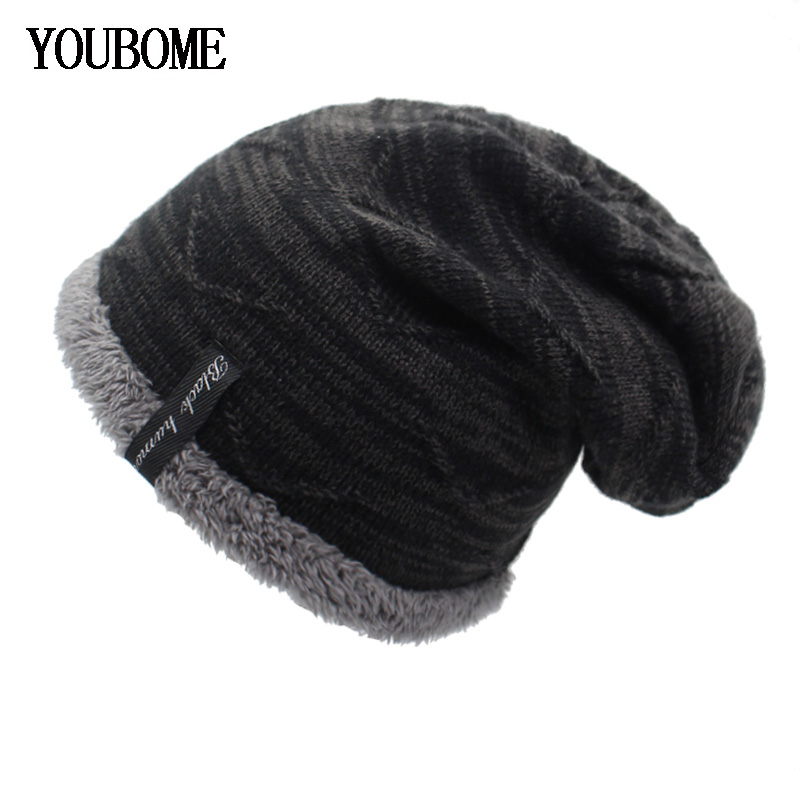YOUBOME Winter Knitted Hat   Skullies     Beanies   Winter Hats For Men Women Mask Brand   Beanie   Gorros Bonnet Warm Baggy Soft Hat Caps