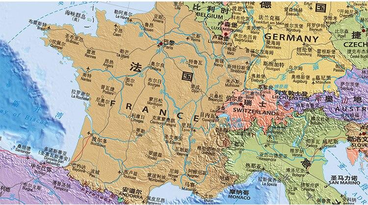 Kids Map Of Spain.Europe Map Uk Spain France German Education Kids Enlightenment Map