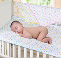 1 PCS Soft Cotton Baby Urinal Pad Bed Duckling Printed Waterproof&Breathable Changing Pad for Crib 70*50CM
