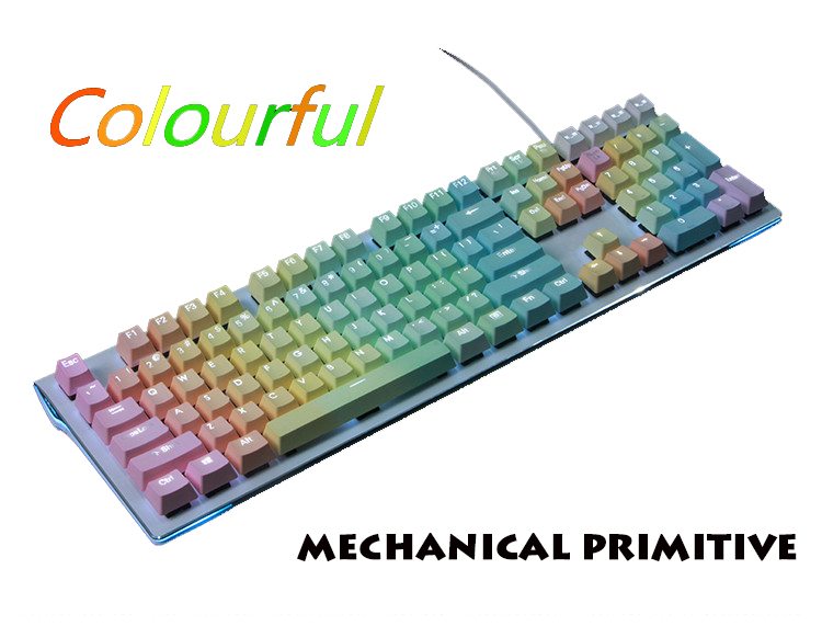 цены 104/108 Keys PBT Double Color Rainbow Injection Keycaps OEM Height For Cherry MX Switches Mechanical Gaming Keyboard Keycaps