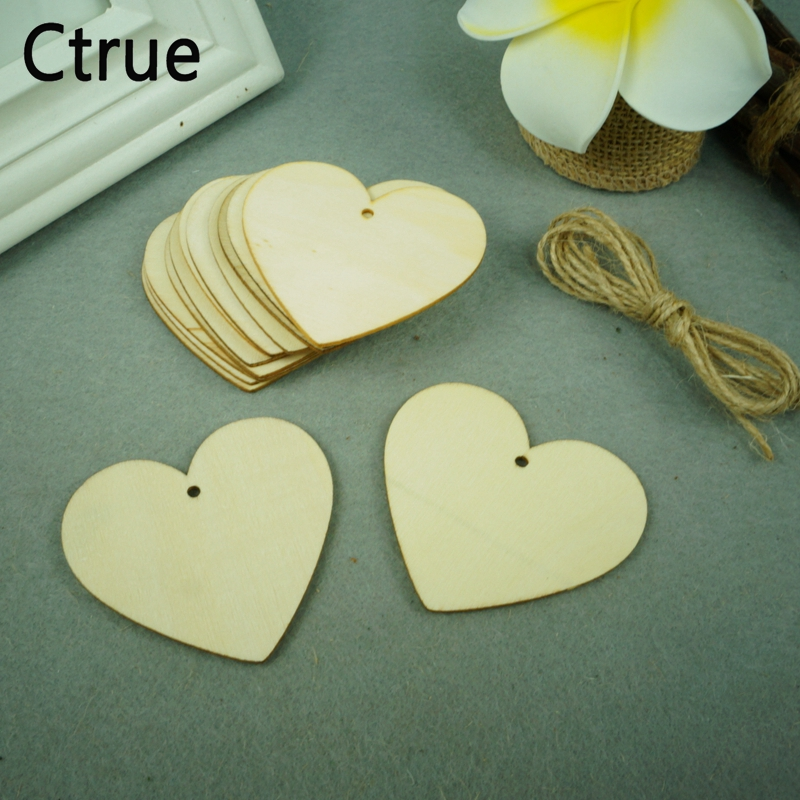 Hot 50Pcs Wooden Love Hearts Shapes Embellishments Heart Plain CraftCLH STOCKCLH
