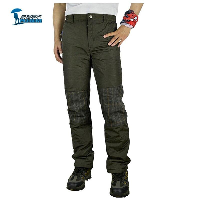 цена на Protective Brand New Autumn Winter Windstopper Softshell Hiking Pants Men Outdoor Climbing Waterproof Pantalon Trekking Trousers