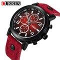 CURREN masculinos de Couro de Negócios de Moda relógios de Pulso de Quartzo-relógio Relógios meskie Para Homens Relógio de Pulso de luxo Relógio relogio masculino
