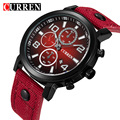 Curren moda de cuero de negocios hombres relojes de pulsera de cuarzo reloj de pulsera relojes meskie para hombres reloj de lujo del reloj relogio masculino