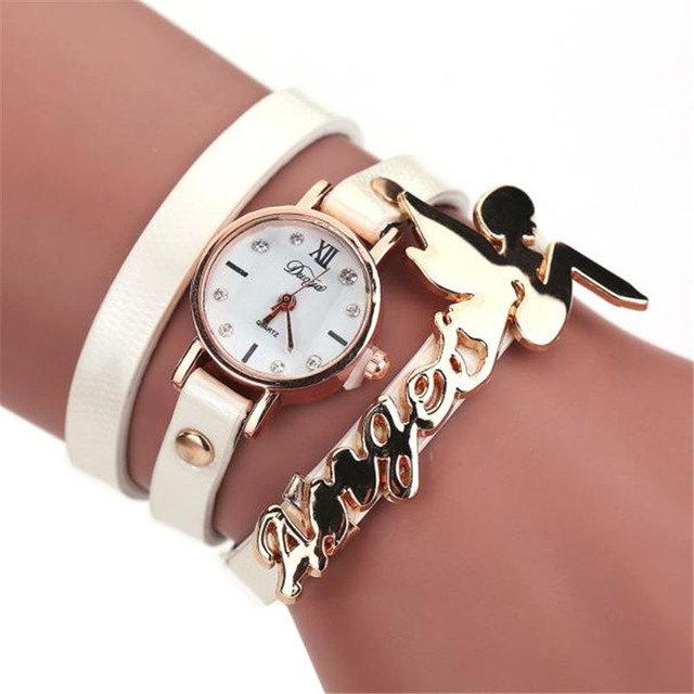 CLAUDIA Newest Luxury New Fashion Style Faux Leather Bracelet Watch Women Dress Wristwatches Round Casual Ladies Quartz Watches