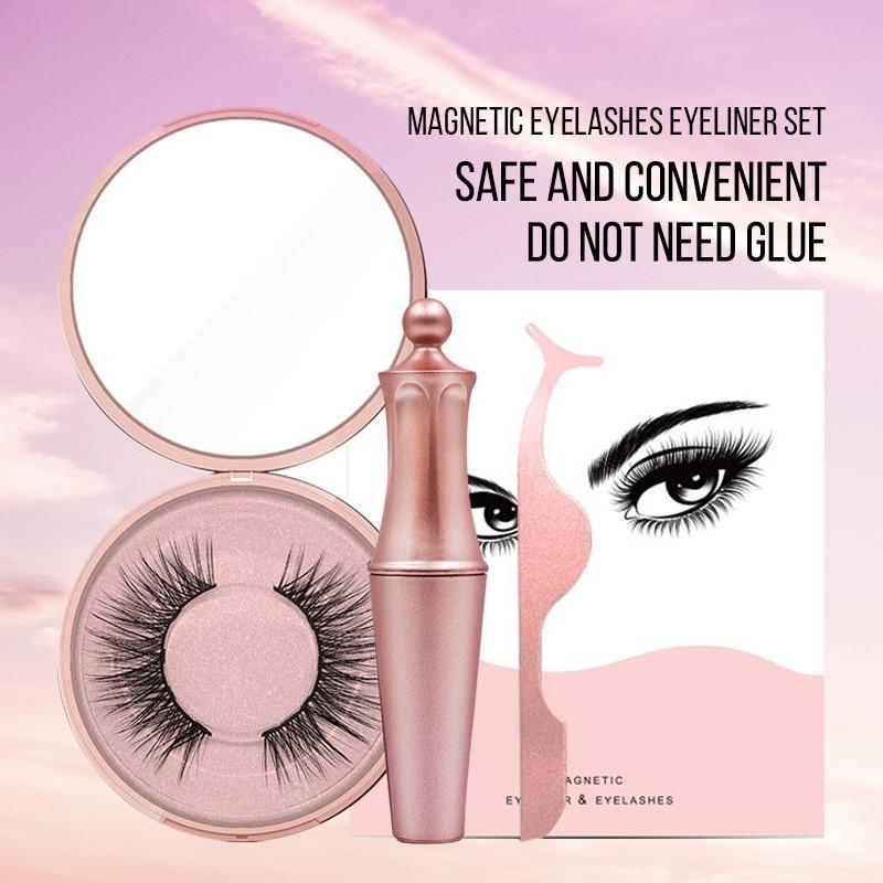 Magnetische Falsche Wimpern Wasserdicht Wisch Beweis Magnetische Eyeliner Handarbeit Leicht zu Tragen Magnetische Wimpern Set Make-Up Wimpern Kit
