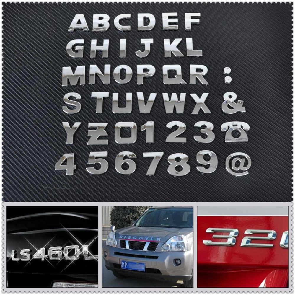 Auto auto FAI DA TE Lettera di Alfabeto numero di Adesivi Logo per Peugeot 206 307 406 407 207 208 308 508 2008 3008 4008