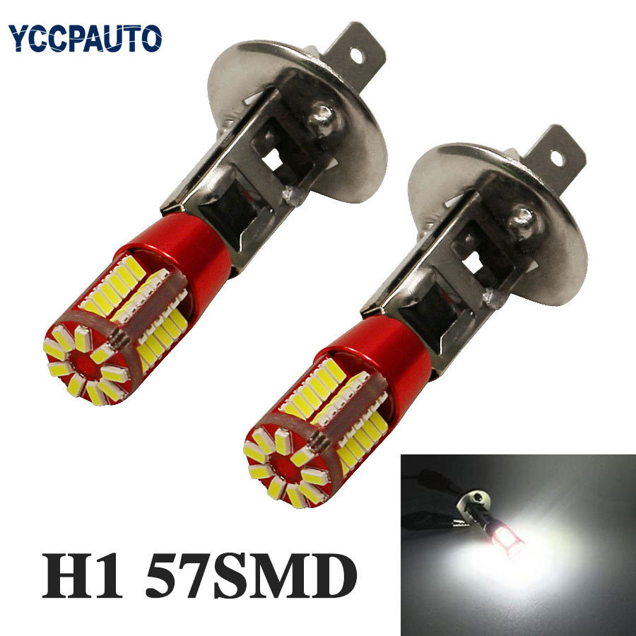 H1 Car Auto LED Fog Lamp Daytime Running Lights DRL 3014 smd LED Bulb No Error Led light Canbus 2pcs White holbein colour library
