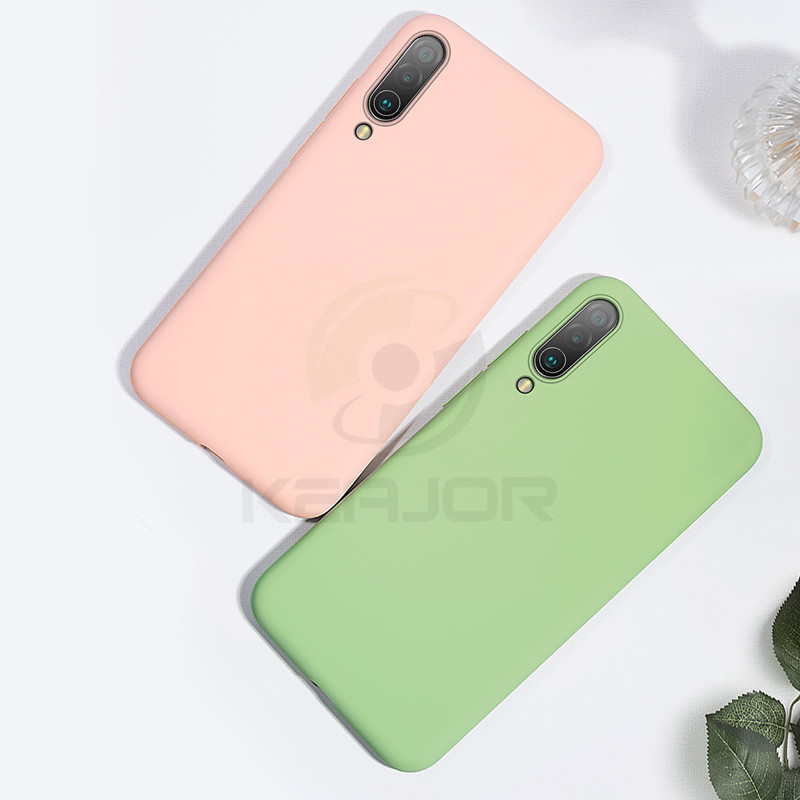 Keajor Case For Xiaomi mi cc9 mi a3 Case Ultra Thin Soft Liquid Silicon Phone Cover On For Xiaomi mi cc9e mi 9 mi a3 lite Capa in Fitted Cases from Cellphones Telecommunications