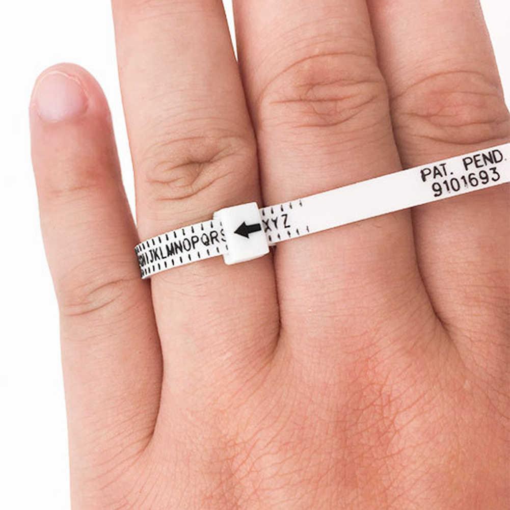 المملكة المتحدة/الولايات المتحدة القياسية البنصر حجم أشرطة القياس ل اليدوية DIY مجوهرات متجر الرسمية البريطانية/الأمريكية الاصبع قياس