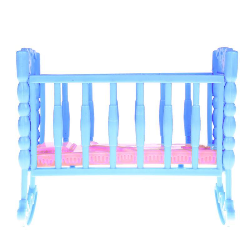 Rosado dulce mini muñeca de juguete niña Muebles mecedora Cunas cama ...