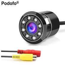 Podofo Car Rear View Backup Camera With 8 LEDs Night Vision 18.5MM Full HD CCD Cam 170 Degree Waterproof Rearview Parking Camera