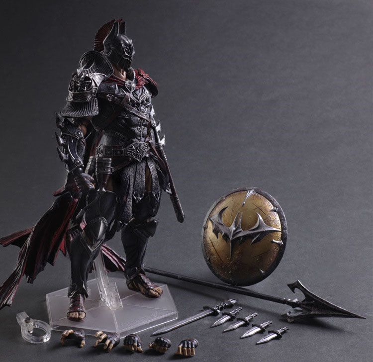Free Shipping 11 PA KAI DC Hero Batman Spartan Sparta Warior Ver. Boxed 27cm PVC Action Figure Collection Model Doll Toy Gift free shipping 6 comics dc superhero shfiguarts batman injustice ver boxed 16cm pvc action figure collection model doll toy