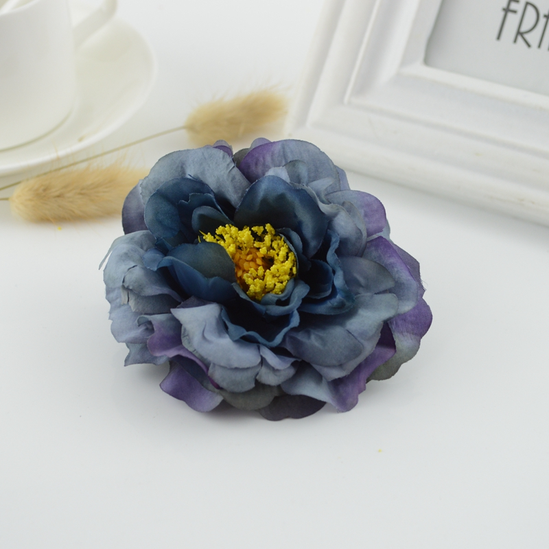 european style silk peony head artificial flowers for home w