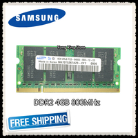 Samsung Laptop memory 4GB PC2 6400 DDR2 800MHz Notebook computer RAM 4G 800 6400S 200 pin SO DIMM