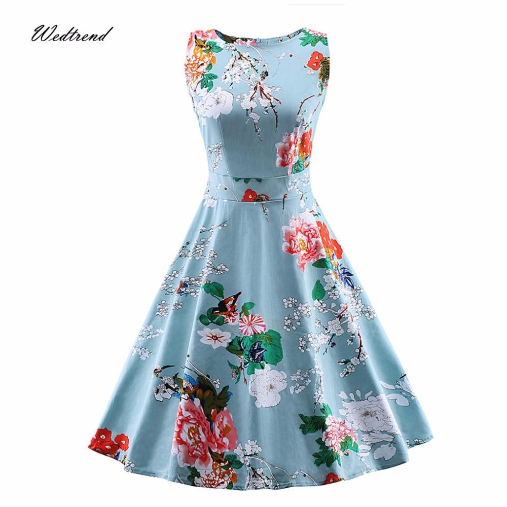 Wedtrend 1950s Women Spring Vintage Retro Party Dress Sleeveless ...