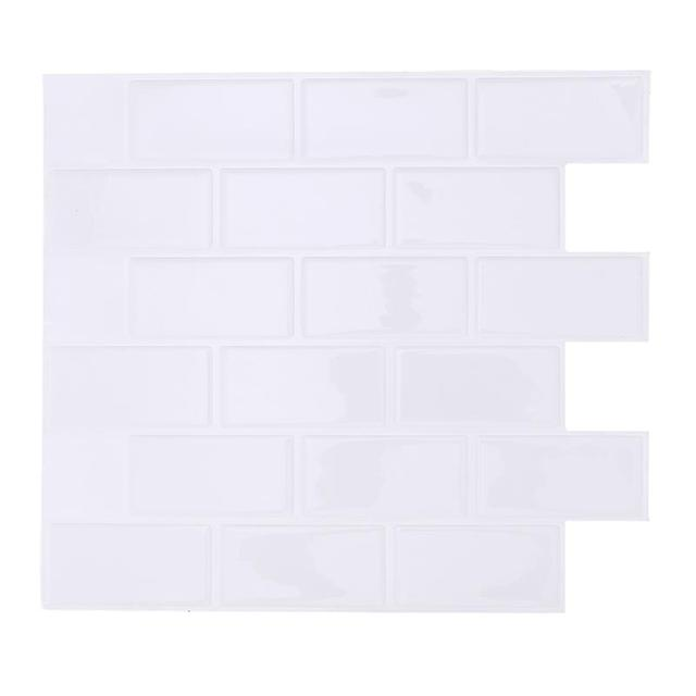 Self Adhesive Wall Tile Removable Waterproof L And Stick Backsplash For Kitchen 28 6x25 5cm White