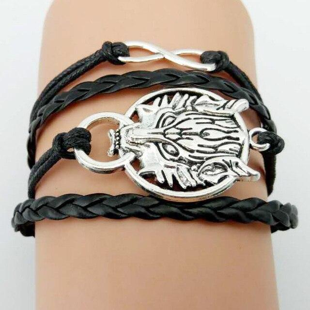 Game of Thrones Men Leather Bracelet  3