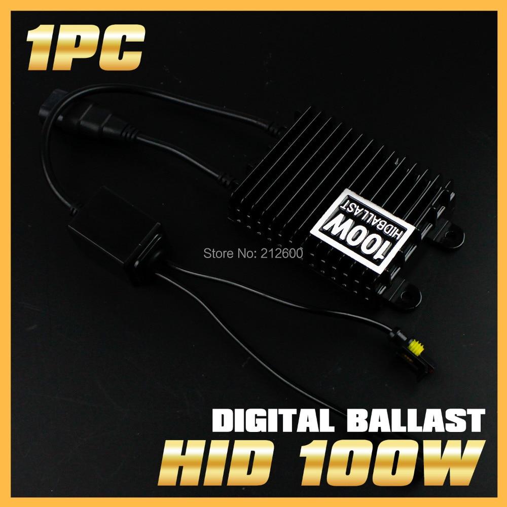 1PC 24V Xenon 100W AC Digital Slim Blocks Electronic Ballast for HID Conversion Fog Headlight Kit H1 H3 H4 H7 H11 9005 9006 vel vel 03 06 04 02700