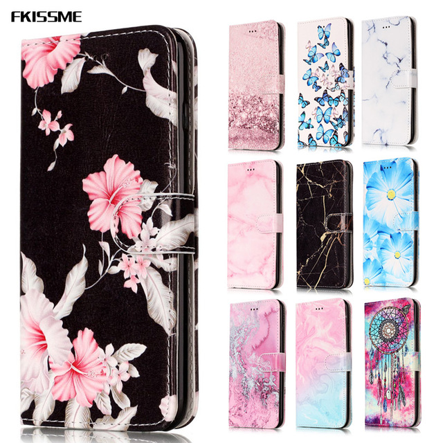 f1004d1ce2d 50pcs/lot Luxury Marble Wallet Case Flip Wallet PU Leather Cover For iPhone  6 7 8 Plus X 5S Phone case Card Holder Coque Fundas