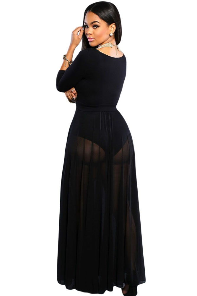 Black-Sheer-Slit-Panty-Luxe-Maxi-Skirt-LC65000-2-3