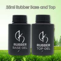 35ml grande bouteille ongle Base couche UV caoutchouc Base et haut pour Nail Art vernis hybride longue durée haute capacité apprêt Gel lak