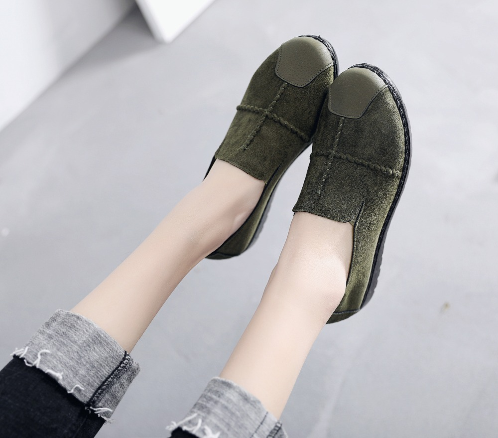 Plus Size Summer Women Flats Fashion Splice Flock Loafers Women Round Toe Slip On Leather Casual Shoes Moccasins New 2019 VT209 (15)