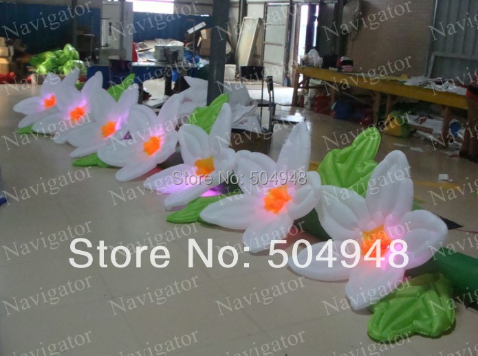 Good Inflatable Party Light Flower party decor inflatable rose flower with light