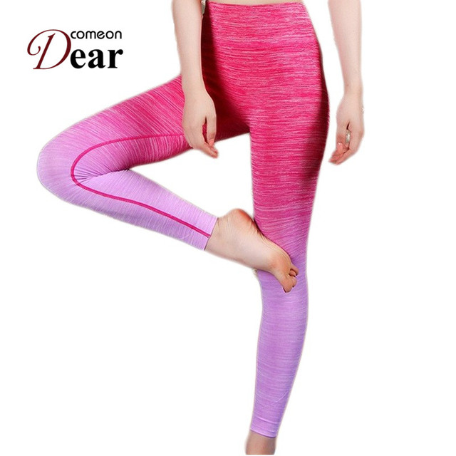37e53cfa164868 Comeondear New Gradual Change Leggings High Waist Clothing For Women 2017 Good  Quality Spandex Pants TB2441 Legging Feminina