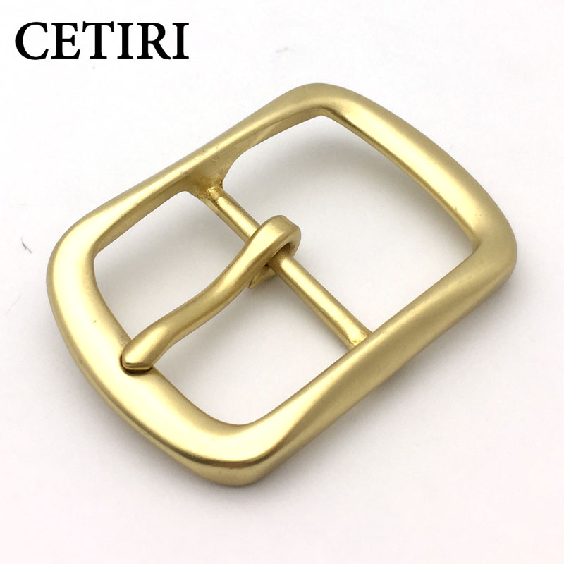 CETIRI High Quality Men/Women's Solid Brass Belt Buckle Strap Center Pin Style DIY Leather Craft Hardware Cowboy Belt Head