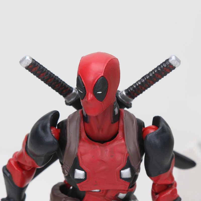 NOVA Chegada 16 cm de Super-heróis Deadpool Wade Wilson Figma EX-42 Com Espada PVC Action Figure Collectible Modelo Toy