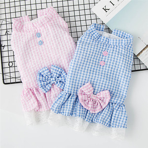 Small Dogs Dresses Clothes For Pets Dress Summer Cat Chihuahua Puppy Wedding Dress Girl Dog Clothes vestidos para perros(China)