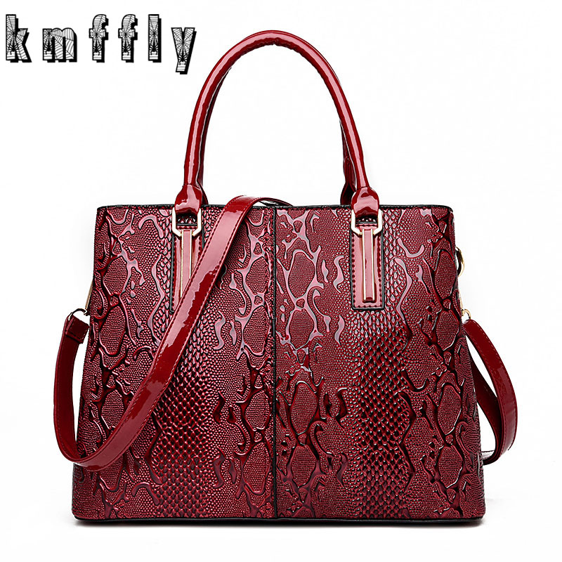 KMFFLY High Quality Serpentine Leather Bags Luxury Handbags Women Bags Designer Famous Brand Purses And Handbags Shoulder Bags