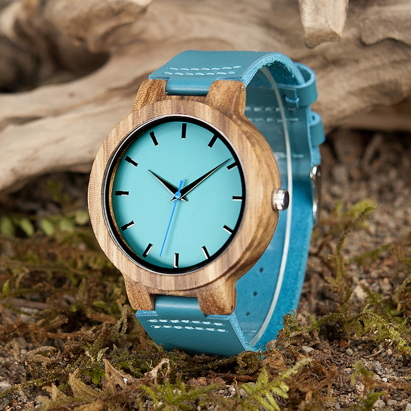 Relogio Feminino BOBO BIRD Women Watch Casual Fashion Blue Soft Leather Strap Lover's Quartz Wristwatch C-C28 DROP SHIPPING