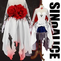 Stock Wig Game SINoALICE Figure Snow White Princess Gothic Dress Anime Uniform Halloween Cosplay Costume