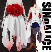 [Stock+Wig] Game SINoALICE Figure Snow White Princess Gothic Dress Anime Uniform Halloween cosplay costume + Armors for women