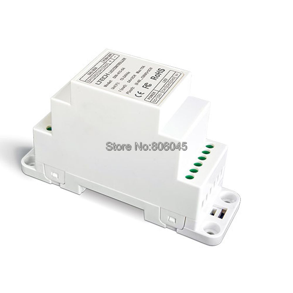 LTECH Constant Voltage PMW DALI Dimming Driver DIN-413-6A DC12V-24V Input Puch Dim(DIN Rail/Screw Dual-Use) 6A*3CH 18A Output картридж для clj m551 hp ce401a