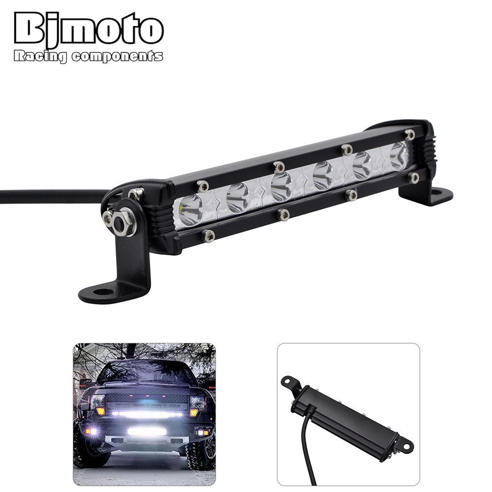 BJMOTO Flood/Spot Beam LED Light Bar 36W LED Work Light Fit for Jeep 4x4 Truck SUV ATV Car 12V 24v Trailer Offroad Driving Light 1pc 4d led light bar car styling 27w offroad spot flood combo beam 24v driving work lamp for truck suv atv 4x4 4wd round square